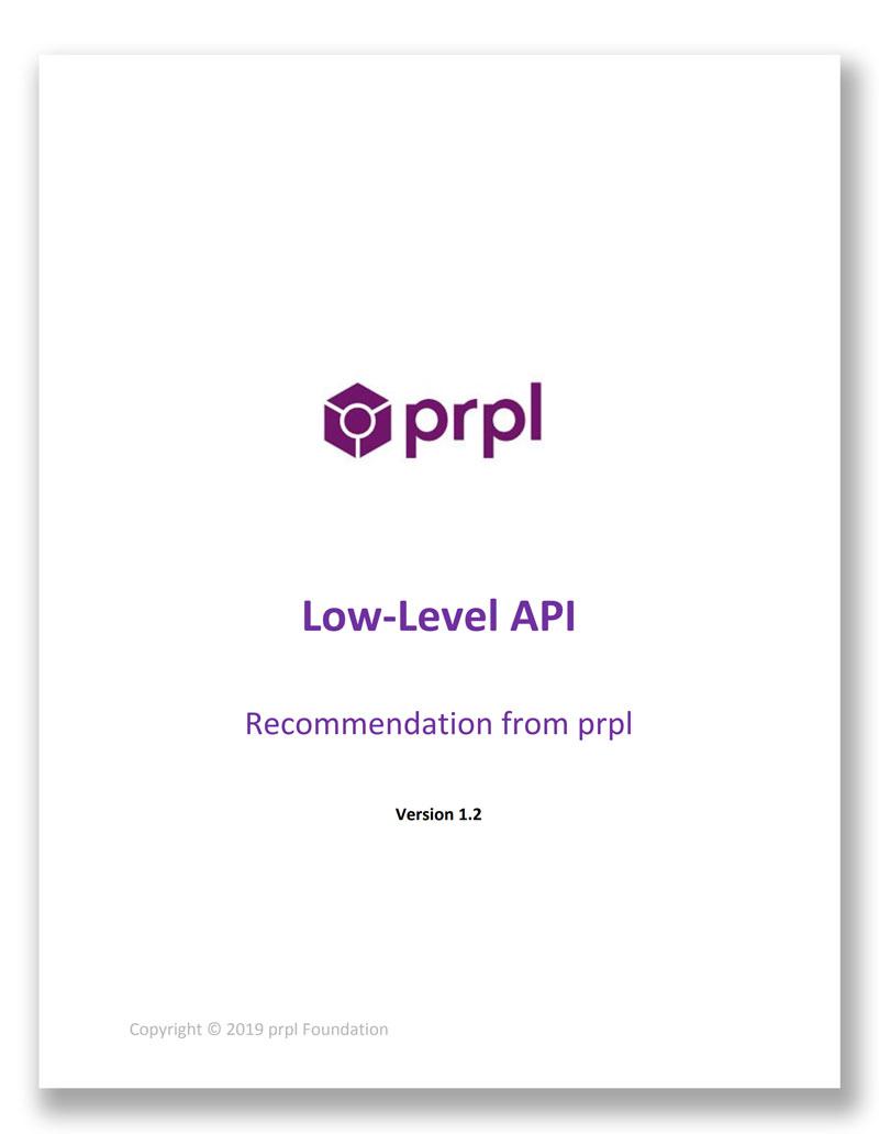 prple Low-Level API recommendation from prpl