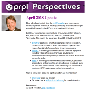 prpl Perspectives April Newsletter - Screenshot Campaign