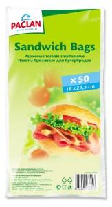 PAPER SANDWITCH BAGS 50szt