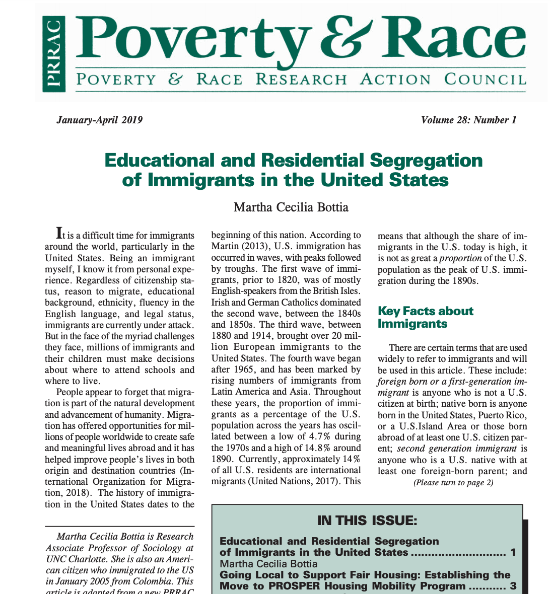 Poverty & Race Journal