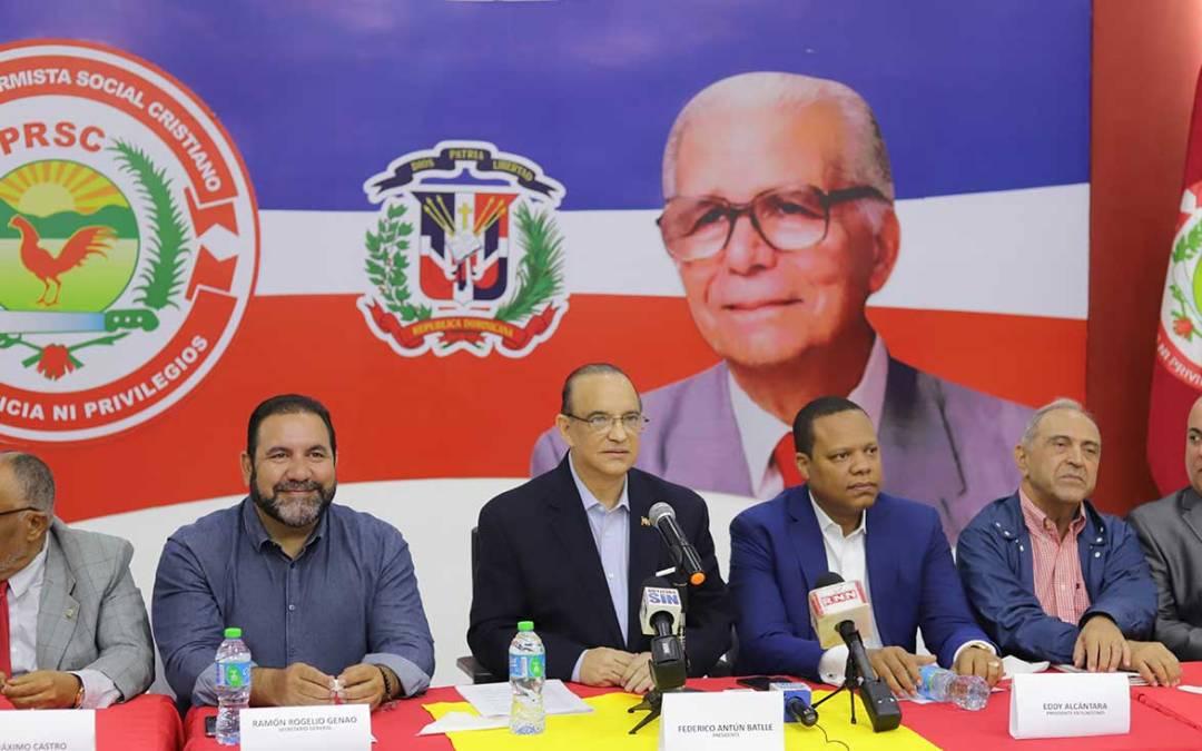 PRSC convoca reuniones del Directorio Presidencial y la Comisión Política para este sábado 11 de mayo