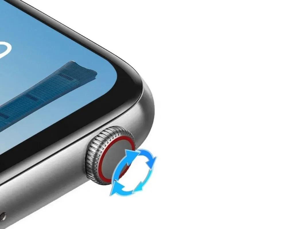 Smartwatch DT100 botón rotativo