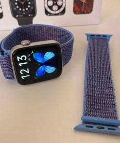 Correas de Nylon 44mm Azul Claro con Violeta