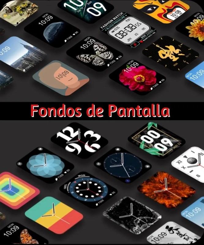 Fondos de Pantalla del Smartwatch DT100