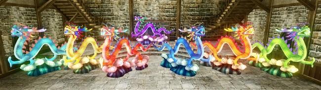 ▲ドラゴン灯籠(全7色)