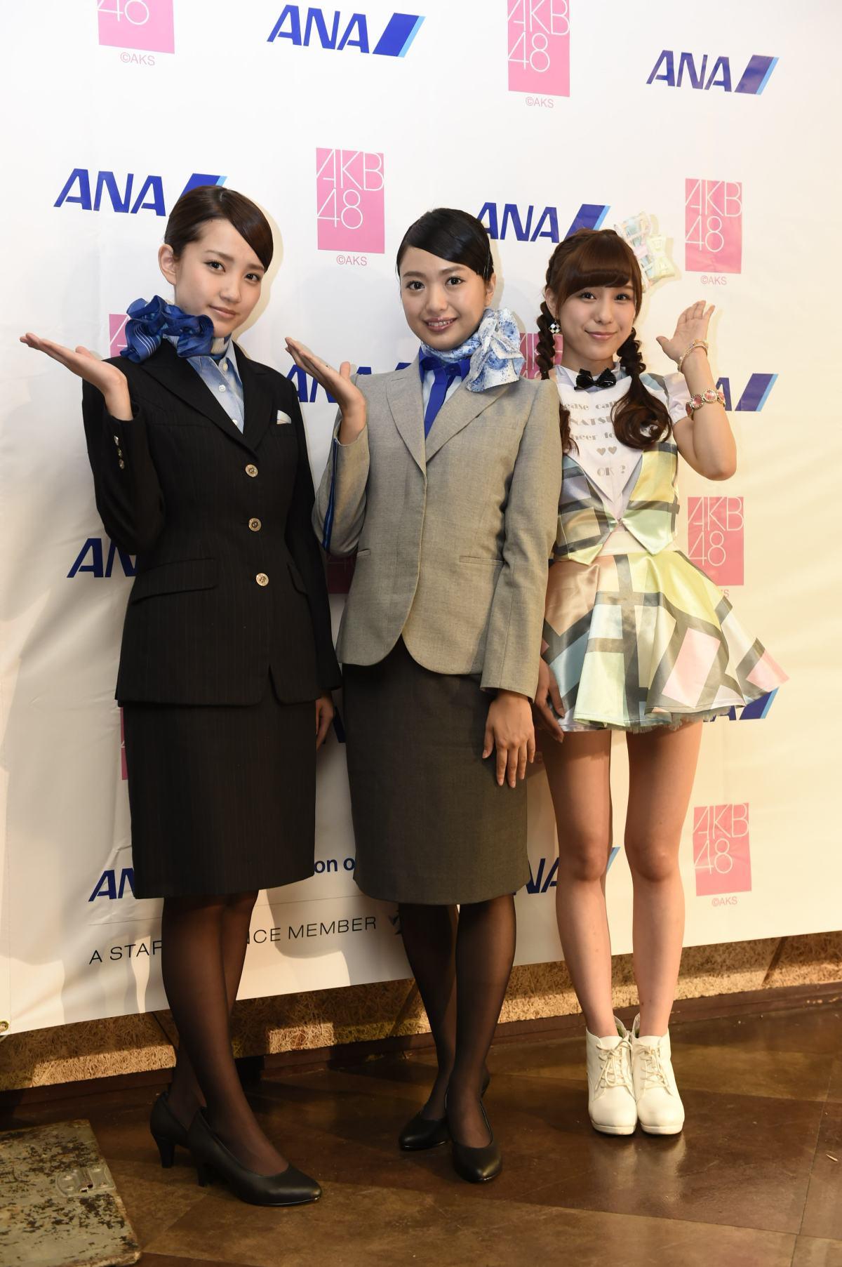 台湾でファンが熱狂!AKB48北原里英がANAのCA新制服で登場