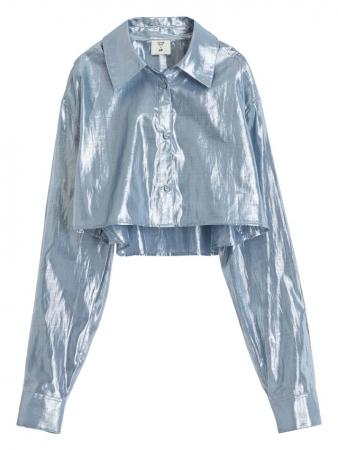 クロップドシャツジャケット¥2,999