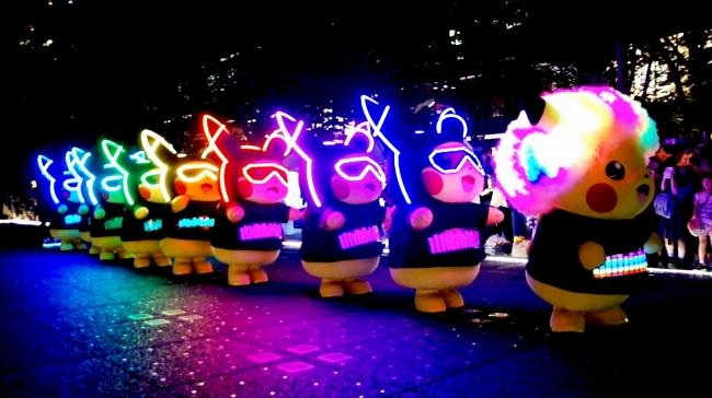 ピカチュウの大行進(昨年の様子)