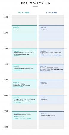 セミナータイムスケジュール 大阪開催