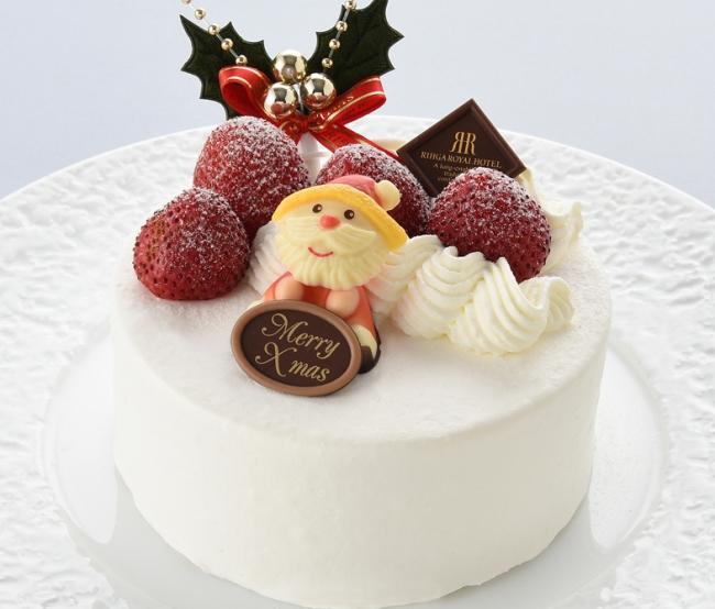 苺のデコレーションケーキ(直径:約12cm)