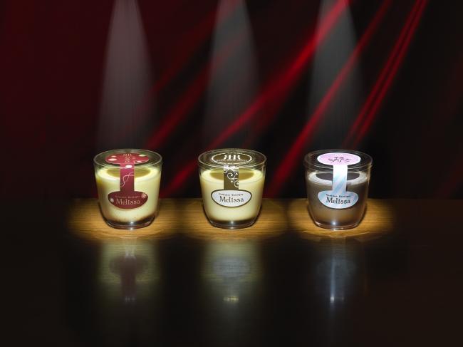 左)大正カスタプリン 中)昭和カスタードプリン 右)平成なめらかチョコプリン