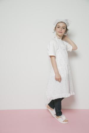 【Junior】チェリーエプロン&三角巾SET(巾着付き) ¥4,800+tax