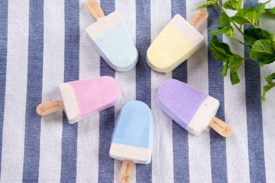 特典のアイスクリーム型入浴剤