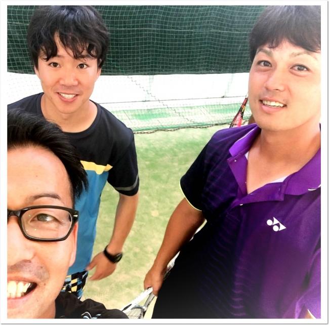 YONEX柴田選手、  花田コーチありがとうございました。  (セルフィー写真はITC真砂コーチ(左))