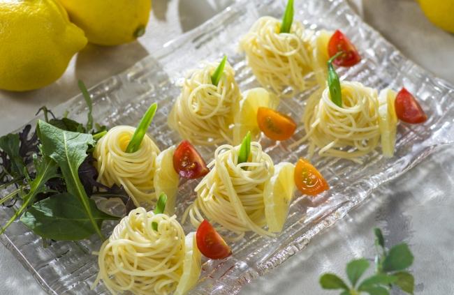 瀬戸内レモンマリネのパスタ