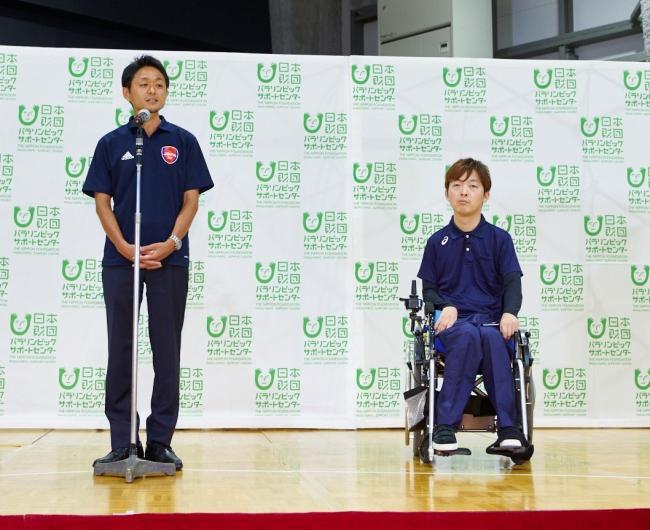 左):日本ブラインドサッカー協会 松崎英吾事務局長 右)リオ2016パラリンピック競技大会銀メダリスト 杉村英孝選手