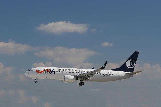 5月13日より中国の山東航空が済南・青島路線に就航