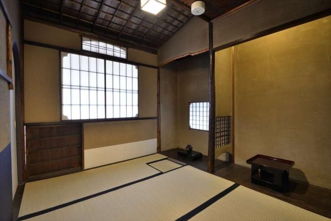 青龍邸には茶室があります