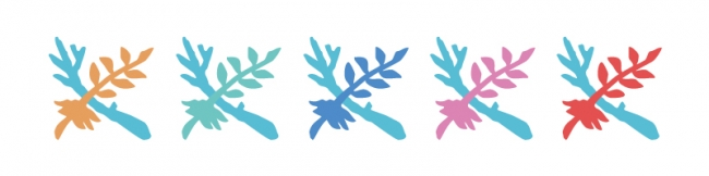 ▲かりゆし水族館ロゴマークのカラーバリエーションイメージ ※掲載カラーはイメージです。