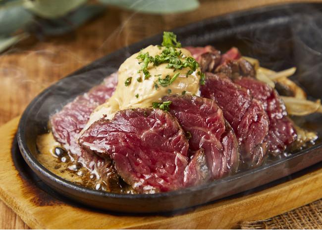 鉄板牛ハラミステーキ