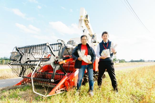 ながいきそば倶楽部の木島敬二さん(左)と長生村産業課の木島政人さん(右)