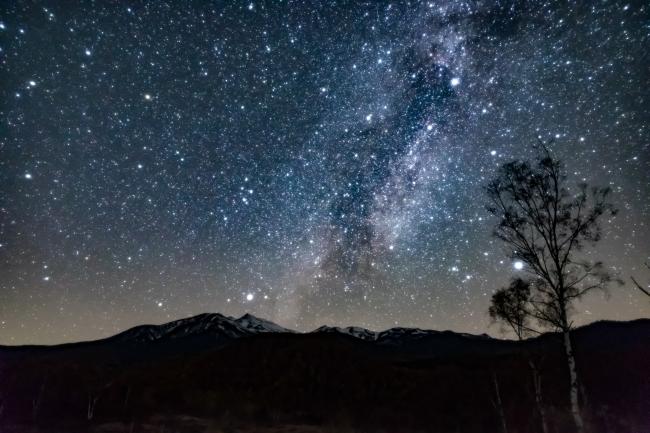 肉眼で見える天の川(撮影:筒木猛)
