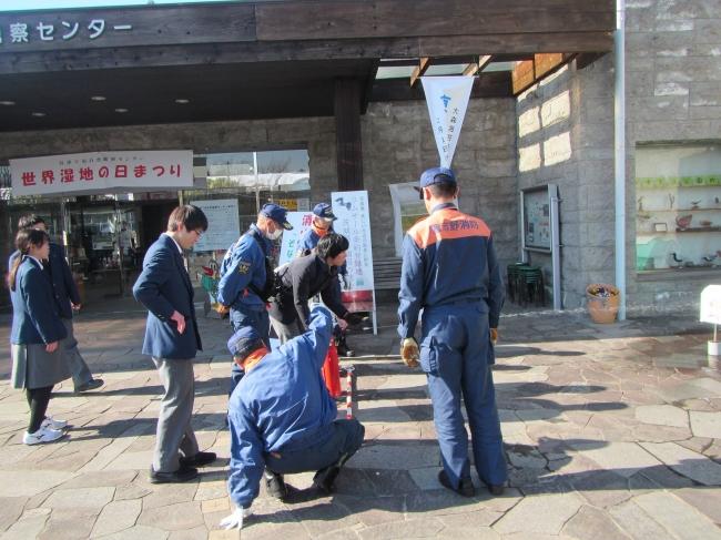 地元町会と連携した消防訓練