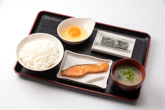 朝定食・鮭(520円)