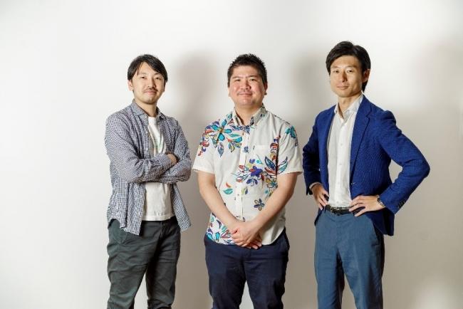 画像注)左から取締役CSO武田 修一、代表取締役CEO澤岻 優紀、取締役CFO浅野 雄太