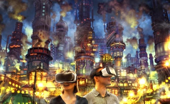360度どこを見てもえんとつ町の世界が広がる。