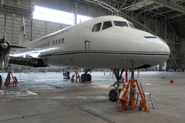 2019年11月11日 自衛隊借用品による機体ジャッキアップ 国立科学博物館
