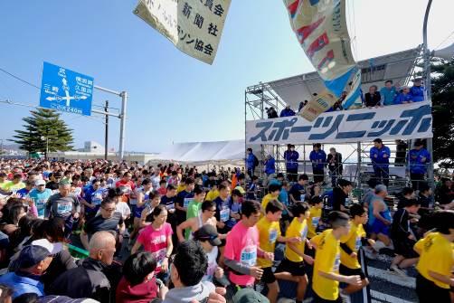 三浦マラソンの様子