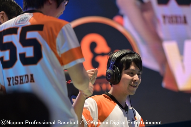 巨人 キャプテン舘野選手(eペナントレースの写真)