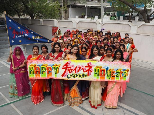 インドのメーカーさんにも、 お祝いしていただきました。
