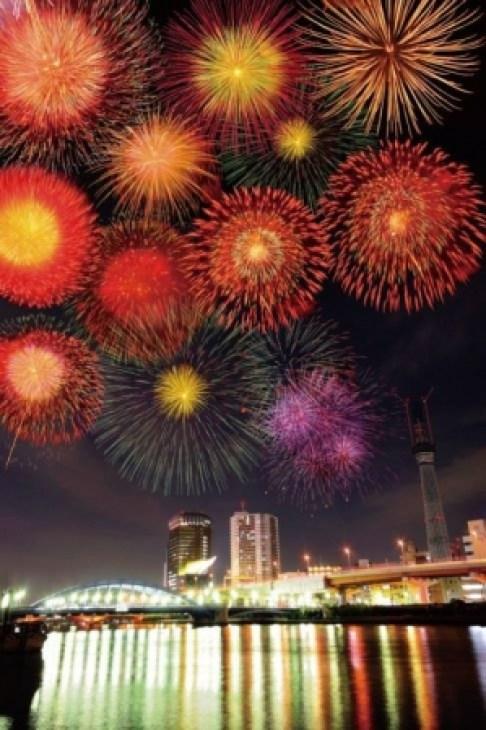 10位 隅田川花火大会(東京都台東区)