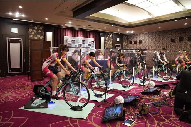 バーチャルサイクリングイベント「MOVING」のイメージ