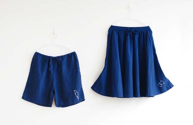 (左)ショートパンツ (右)スカート