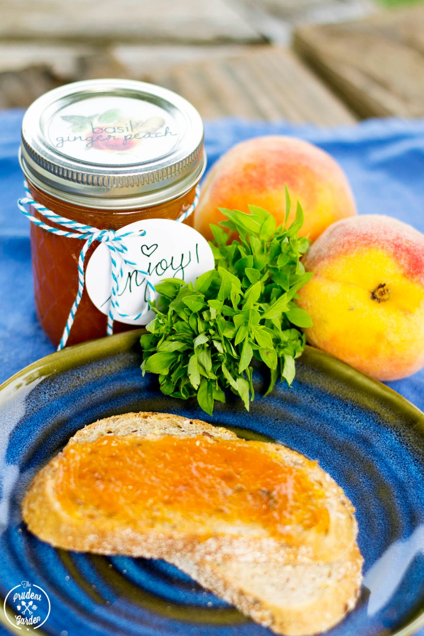 Basil Ginger Peach Preserves