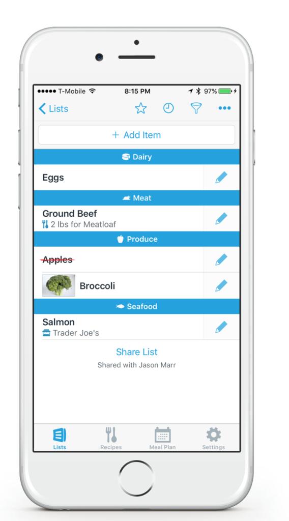 Anylist: Shopping List App