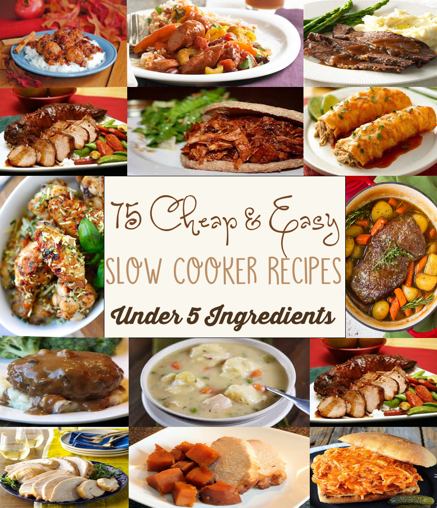 cheap and easy recipes for slow cooker