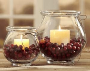 cranberry candleholder