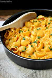 cheesy pumpkin pasta