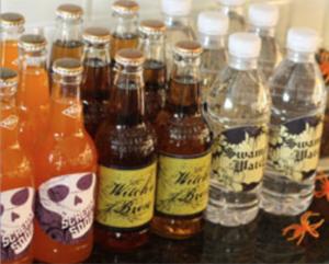 bottled soda label