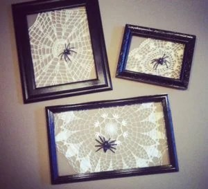 framed-doily-spiderweb