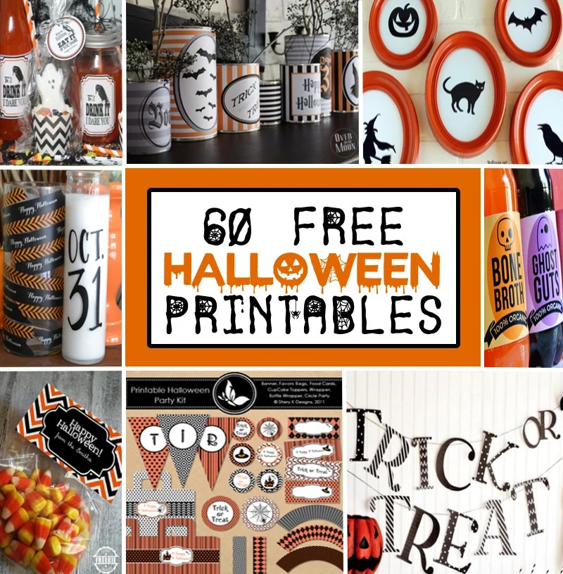 60 Free Printable Halloween Decorations Prudent Penny Pincher