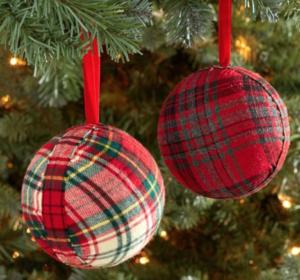 plaid-ornament