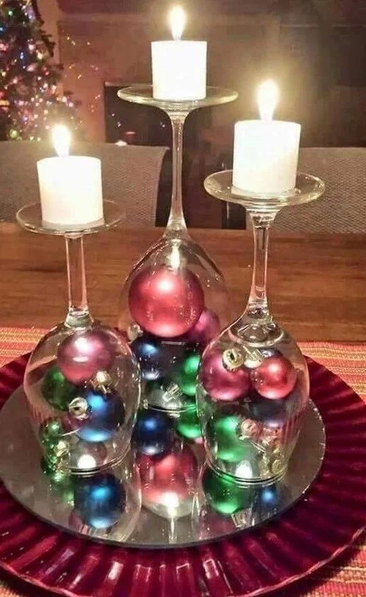 wine glass-christmas-decoration