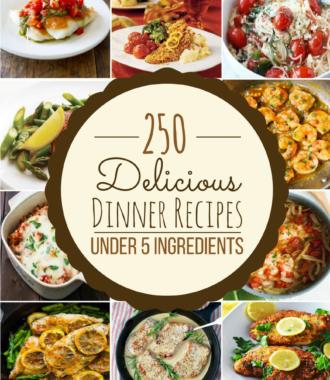 250 dinner recipes under 5 ingredients
