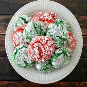 Christmas Crinkle Cool Whip Cookies