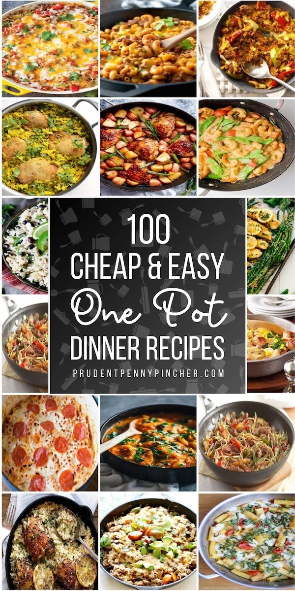 100 Cheap Easy One Pot Meals Prudent Penny Pincher